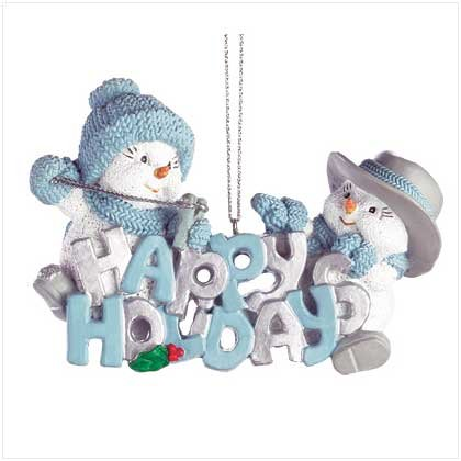 """HAPPY HOLIDAYS"" SNOWBUDDIES ORNAMENT"