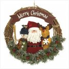 PLUSH SANTA & FRIENDS WREATH