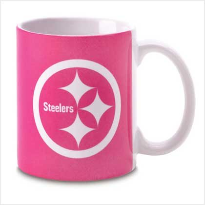 PINK PITTSBURGH STEELERS MUG