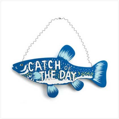 CATCH OF THE DAY FISH SIGN