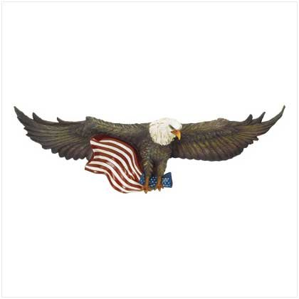 FREEDOM EAGLE CURIO SHELF