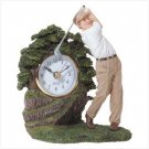 SWINGING GOLFER CLOCK