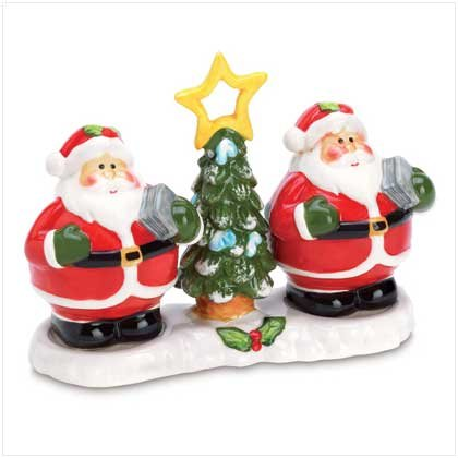 SMILING SANTA SALT & PEPPER SHAKER