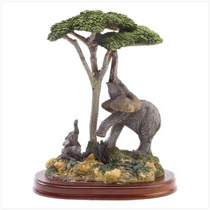 ELEPHANT AND CHILD FIGURINE