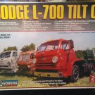 Lindberg 1/25 Dodge L-700 Tilt Cab Semi Truck Model Kit