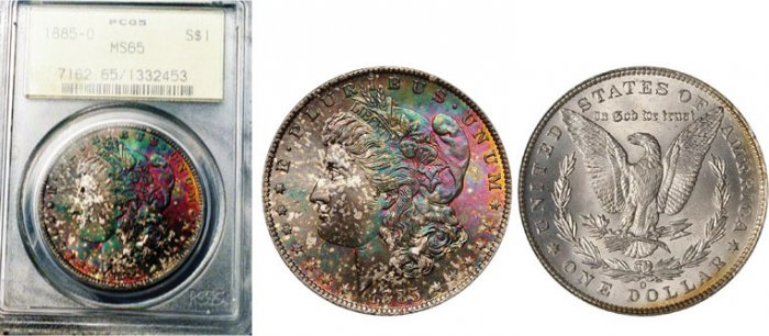 1885-O Morgan Silver Dollar PCGS MS-65 Old Holder