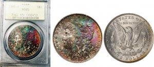 1885-O Morgan Silver Dollar PCGS MS-65 Old Holder