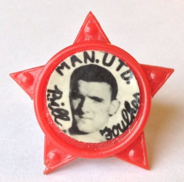 Bill Foulkes Man Utd Vintage Star Badge