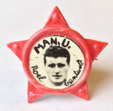 Noel Cantwell Man Utd Vintage Star Badge