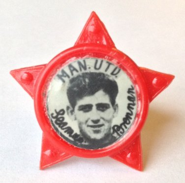 Shay Brennan Man Utd Vintage Star Badge