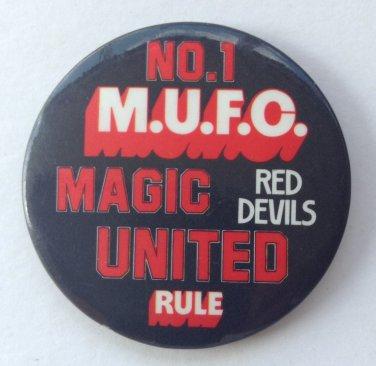 Man Utd Rare 1970's / 80's Badge MUFC No.1