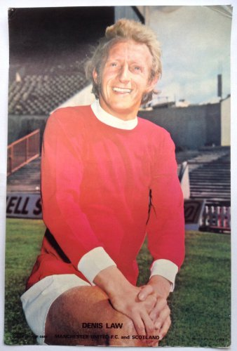Denis Law 1970's Man Utd Coffer Poster