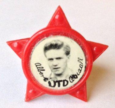 Albert Quixall Man Utd Vintage Star Badge