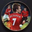 David Beckham Man Utd Danbury Mint Plate with COA and Box