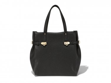 Salvatore Ferragamo Authentic Leather Handbag 21F018 Mancini Tote Bag - Black