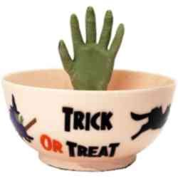 Halloween Animated Candy Bowl (White)