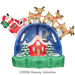 Christmas Airblown� SnowGlobe - Santa sleigh on Snow Globe - 8FT