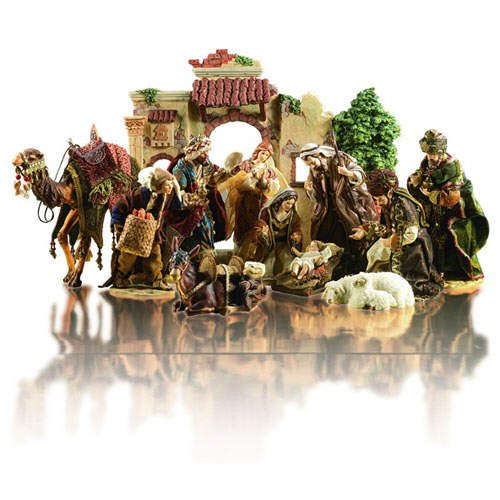 Porcelain Christmas Nativity Set (12 pcs.)