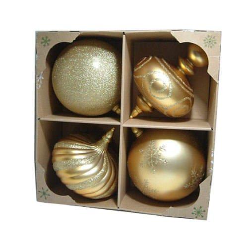200mm Jumbo Christmas Ornaments  (4 pk.)