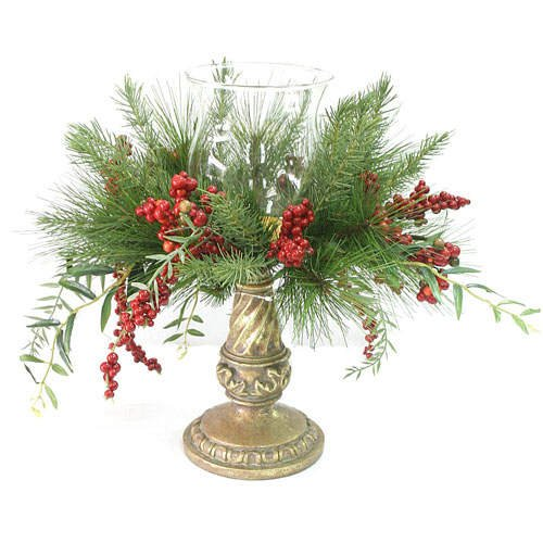 3 Piece Pillar Christmas Candleholders (different sizes)