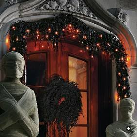 Halloween Garland With 35 Mini Orange Lights (Outdoor/Indoor)