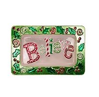 "Believe Glass Serving Tray (14"")"