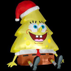 Christmas Holiday Airblown - Nickelodeon 4 ft. Lighted Sponge Bob Squarepants