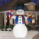 Christmas Holiday Airblown Inflatable - Giant Smiling Snowman with Candy Cane (12 ft.)