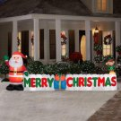 Holiday Airblown Inflatable - 12 ft. Long Merry Christmas Sign