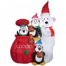 Holiday Animated Airblown Inflatable - Large Christmas Cookie Jar Scene
