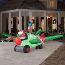 Animated Holiday Airblown Inflatable - Santa in Airplane