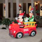 Disney Holiday Airblown Inflatable -Mickey and Goofy in Fire Truck