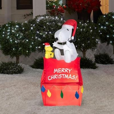 PEANUTS Christmas Holiday Airblown Inflatable - Snoopy and Woodstock on Doghouse