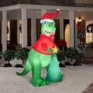 Holiday Airblown Inflatable - Large Christmas T-Rex Dinosaur (8.5 ft.)