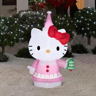 Christmas Holiday Airblown Inflatable - Christmas Hello Kitty