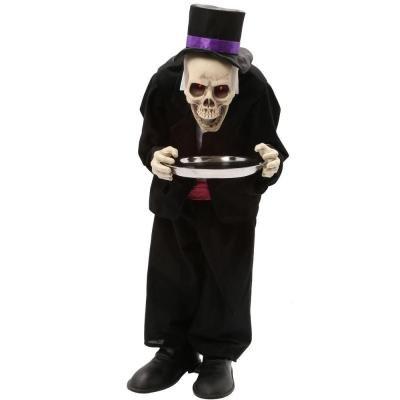 Halloween Animated Skeleton Butler (3 ft.)