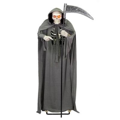 Halloween Animated Grim Reaper with Sound and Light Effects (6 ft.)
