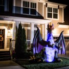 Halloween Airblown / Inflatable Animatronic Dragon With Fiery Light Show (8')