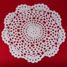 "HANDMADE CROCHETED COASTERS DIAMETER 8.5"" WHITE COLOR UNIQUE COTTON FN"