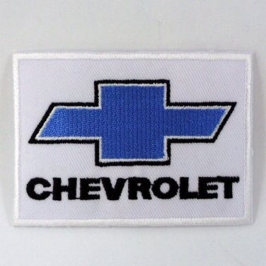 CHEVROLET IRON ON PATCHES AUTOMOBILE EMBROIDERED RACING CAR SEW APPLIQUE LOGO FN