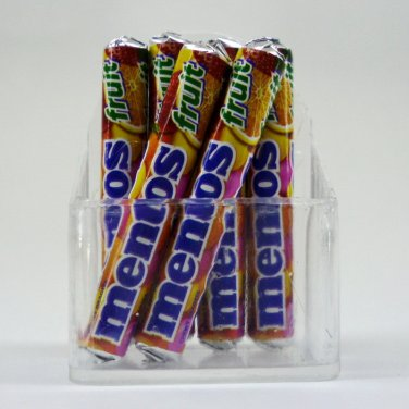 MINIATURES DOLLHOUSE FRIDGE MENTOS MAGNETS REFRIGERATOR FRUIT FLAVOR FN