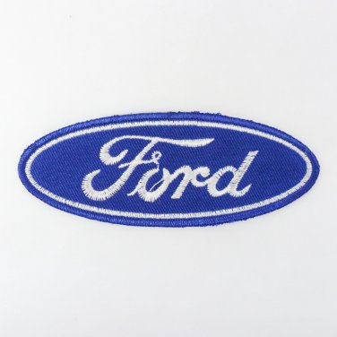 FORD IRON ON PATCHES AUTOMOBILE LOGO EMBROIDERED APPLIQUE SEW GT RACING FN