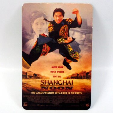 SHANGHAI NOON CALENDAR CARD 2001 MOVIE CINEMA JACKIE CHAN OWEN WILSON FN