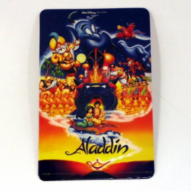 ALADDIN CALENDAR CARD 2001 MOVIE CINEMA WALT DISNEY PICTURES PRESENT FN
