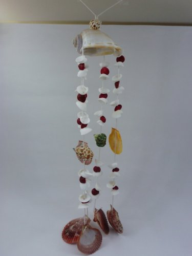 VINTAGE SEA SHELL HANGING MOBILE BEACH HOME DECOR ART OCEAN DECORATION FN