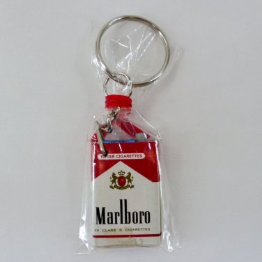 MARLBORO RED CIGARETTES DOLLHOUSE MINIATURE KEYCHAIN KEYRING PACK COLLECTIBLE FN