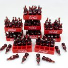 COKE COLA COCA LOT 9 PCS MINIATURE DOLLHOUSE 3D FOOD SODA BOTTLE REMOVABLE FT