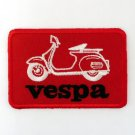 VESPA IRON ON PATCHES EMBROIDERED EMBLEM SEW SCOOTER BIKE MOTORCYCLE FN