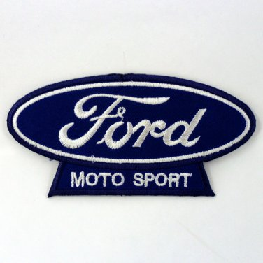 FORD IRON ON PATCHES MOTO SPORT EMBROIDERED AUTOMOBILE BLUE SEW LOGO APPLIQUE FN