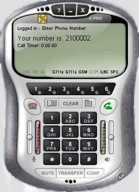 X-PRO VOIP Softphone -- Fully Function, 6 lines Version